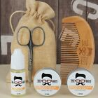 Mo Bro's Grooming Kit- Moustache Wax, Beard Balm, Oil, Comb, Scissors & Gift Bag