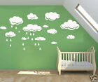 CLOUDS & rain drops removable wall stickers for Nursery or kids room