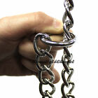 A nickel-plated choke chain choker dog collar