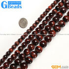 "Natural Red Tiger's Eye Gemstone Round Beads Free Shipping 15"" 6mm 8mm 10mm 12mm"