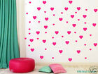 59 LOVE HEARTS removable wall stickers for Nursery or kids room