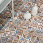 Naklo  Moroccan Arabesque Effect Ceramic Floor Tiles 450x450x9.5mm 5-15 Sqm