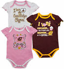 NCAA College Infant Girls Central Michigan Chippewas 3 Pack Creeper Bodysuit Set