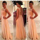 Lady Women Lace Prom Cocktail Evening Party Bridesmaid Wedding Long Maxi Dress