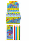 4pk of mini colouring pencils party bag fillers loot bag pocket money toy