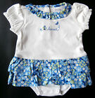 NWT: New Gymboree Blue Floral 'Loved' Creeper Outfit, Newborn or 0-3 mo, Rtl $27