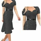 Fashion Women Polka Dot Business Work Evening Party Summer Casual Mermaid Dress