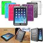 For Apple iPad Back Case Cover with Screen Protector Shockproof Defender Bumper