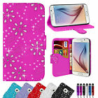 LEATHER FLIP WALLET CASE COVER FOR SAMSUNG GALAXY S6 FREE SCREEN PROTECTOR