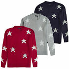 Womens Jumper Brave Soul Ladies Star Print Crew Neck Sweater Oversized Pullover