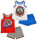 Boys Marvel Avengers Comic Sleeveless Short Cotton Set New Ages 4 6 8 10