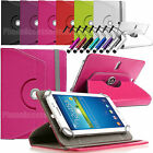 360 Rotating Leather Case Folio Cover For All Android Tablets Tab 8 Inch 8.1 inc