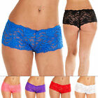 New Womens Ladies Full French Lace Boxer Shorts Briefs Knickers Sexy Underwear M