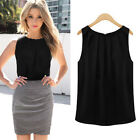 Women Summer Vest Sleeveless Casual Tank T-Shirt Chiffon Tops Loose Blouses Size