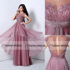 Customize Sequins Beaded Layered Prom Evening Gown Bridal Wedding Party Dresses