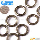 "Natural Iron Pyrite Gemstone Round Donut Beads For Jewelry Making 15"" 20mm 23mm"