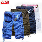 Cargo Shorts Pants Hose Casual Trousers Military Combat Army  BERMUDA KURZE Dt