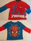 MARVEL Boys 2T or 3T Spiderman Everyday Blue Red Long Sleeve Shirt Choice NWT