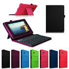 Bluetooth Keyboard Folio Stand Leather Case Cover For Verizon Ellipsis 4G Tablet
