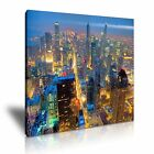 CHICAGO Skyline At Night Canvas Framed Print 2 ~ More Size