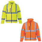 Mens Portwest Multiple Pockets Waterproof Zip Hi-Vis Softshell Jacket Size S-3XL