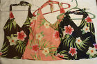 BAREFOOT MISS Floral Halter Swim Top Choice 24W 14T 18W 8 10  12 18T NWT Peach
