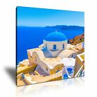 SANTORINI Greece Oia Canvas Framed Print 5 ~ More Size