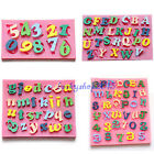 Silicone Alphabet Letters Numbers Fondant Chocolate Sugar Mould Cake Decorating