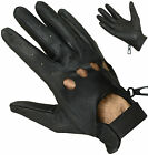 Genuine Soft Cowhide Leather Driving Gloves Mens Retro Fashion Mittens