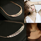 Jewelry Crystal Twisted Fashion Chunky Bib Necklace Choker Chain Charm