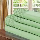 Chic Home Pleated Microfiber Sheet Sage - Twin, Full, Queen, King