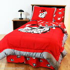 Georgia Bulldogs Comforter Sham and Valance Set Twin or Full Cotton Sateen