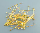 500Pcs Gift Gold Plated Ball Head Pins 0.5x25mm