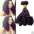 50g/Bundle Funmi Curly Wave Human Hair Extensions Stylish New Natural Black Weft