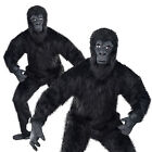Unisex Gorilla Guy Costume Adults Jungle Ape Animal Outfit King Kong Fancy Dress