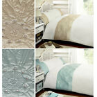 Modern Elegant Embroidered Flowers Duvet Cover Set With Diamante Detailing