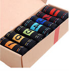 7 Pairs Men's Top Fashion Casual Dress Socks Cotton Ankle Week Crew Socks h7