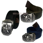 1x New Fashion Outdoor Canvas metal buckle Belt Blue/Camouflage 7 Color SKU12