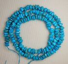 "Sleeping Beauty Turquoise Gemstone Chip Beads Blue 18"" Std Jewelry Craft   #968"