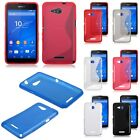 Fashion Soft S line TPU Silicone Gel Back Cover Case Skin For Sony Xperia E4g