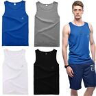 Men's Casual Singlet Tank Tops Wife Beater Sports Shirt Slim Fit Sleeveless Vest