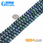 Round Gemstone Lapis Lzuli Malachite DIY Jewelry Crafts Making Beads Strand 15""