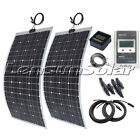 2 X 50W/60W/75W/80W/100W Flexible Solar Panel Kit, MPPT Regulator,MT-5,Fitting