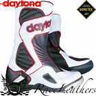 DAYTONA VOLTEX GTX GORETEX BLACK WHITE RED WATERPROOF MOTORCYCLE MOTORBIKE BOOTS