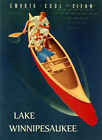 Lake Winnipesaukee New Hampshire Smooth Cool Clean Vintage Poster Repro FREE S/H