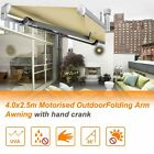 Outdoor Motorised Folding Arm Awning Sun Shade 3M / 4M / 6M x 2.5M