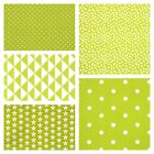 MONO GEOMETRICS - LIME GREEN - 160cm WIDE 100% COTTON FABRIC PATCHWORK FASHION