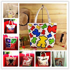 Hot women girl cartoon Single Shoulder Handbags Canvas Medium shopping Bag tote