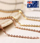 """Stunning 18k Rose Gold Filled 1.5mm Classic Chain Necklace 16 - 24"""" Good Quality"""