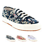 Womens Superga 2750 Liberty Lace Up Low Top Floral Retro Festival Trainer UK 3-8